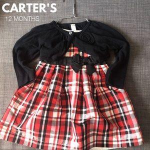 🎀Carter's Dress + 2 Cardigans • 12 Months🎀